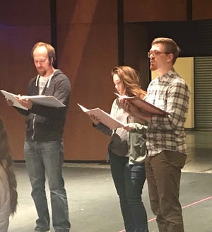 Daniel Schneider, left, will play Judge Turpin; Ellie Thelen, middle, will play the Beggar Woman; and Trevor Clementi, right, will play Sweeney Todd in this summer's Fond du Lac Community Theatre show.
