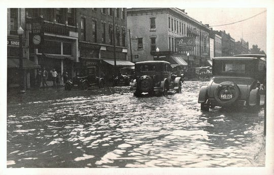 Fremont's Front Street was flooded in 1933.