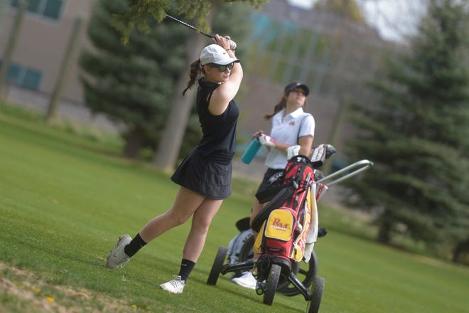 Rocky Mountain High School's Sydney Taylor and other top high school golfers from across the state are wrapping up play Tuesday in state championship tournaments. The Class 5A tournament is being held at The Harmony Club in Timnath, and the Class 4A tournament at Pelican Lakes Golf Course in Windsor. Tee times in both tournaments begin at 8:30 a.m.