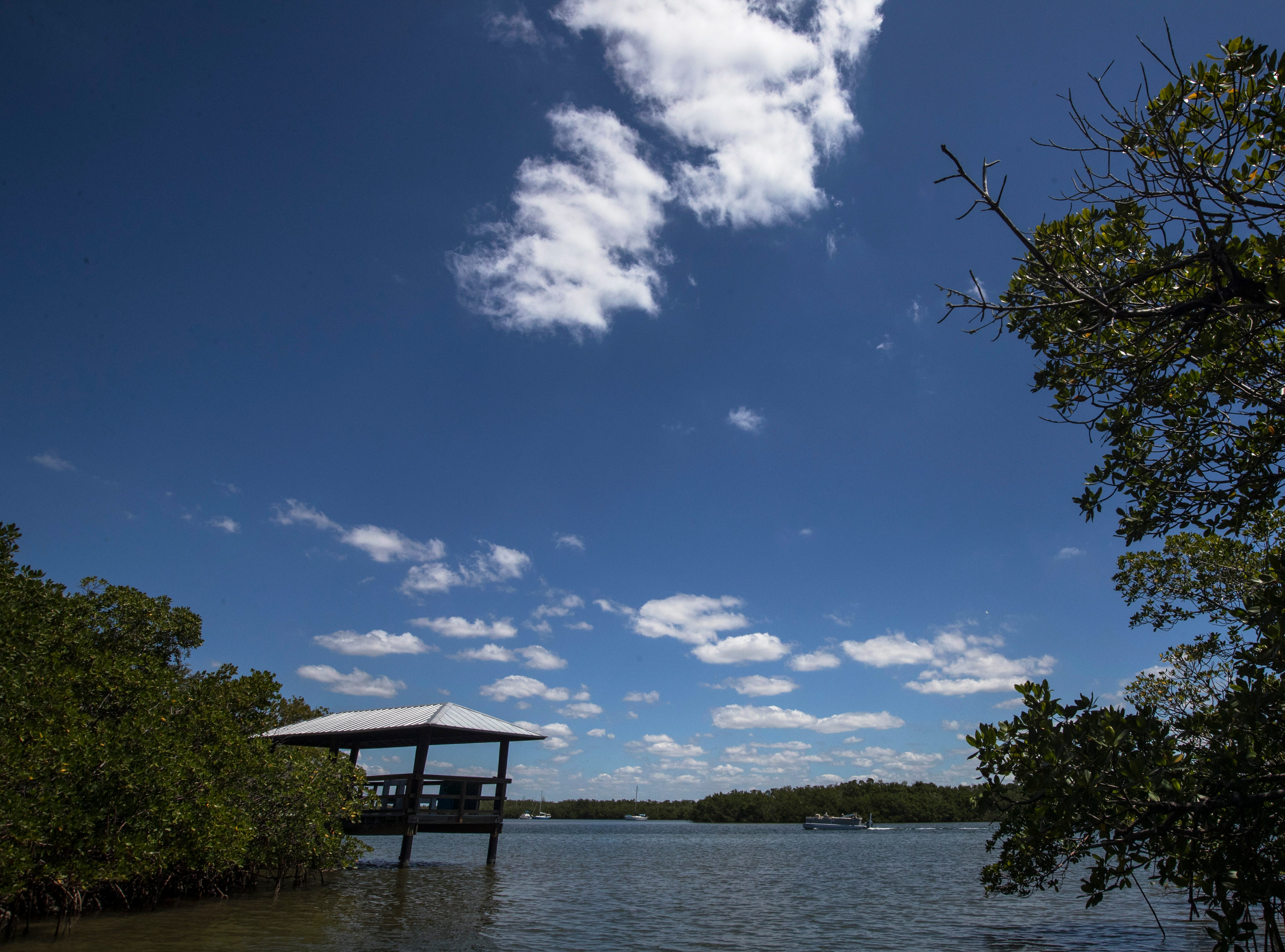 A view of Matanzas Pass as seen from the dock on the Matanzas Pass Preserve boardwalk trail Tuesday afternoon, April23, 2019. The preserve is scheduled to undergo new upgrades.