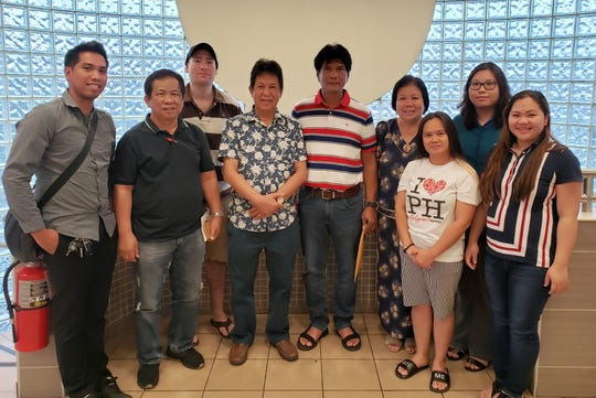 Guam Echecs, also known as the Guam Chess Federation recently held an election for its officers.  The 2019 - 2020 officers are as follows from left to right:  Romualdo Nacario - Jr. Assistant PRO, Danny Briones - Auditor, Erich Ferger - PRO, Enofre Manuel - Vice President, Almer Santos - President, Analyn Estur - Treasurer, Myra Ollet - Assistant Treasurer, Genelyn Estur - Secretary, Ruth Baptista - Assistant Secretary.  Not shown are Elmer Prudente - Business Manager, Radcliffe Paras - Sergeant at Arms, and Mario Espinoza - Peace Officer.
