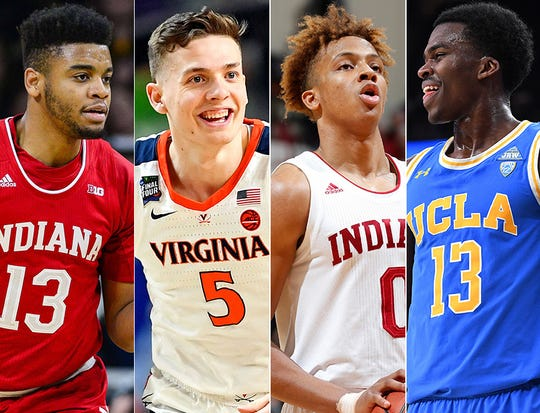 Left to right: Juwan Morgan, Kyle Guy, Romeo Langford and Kris Wilkes.