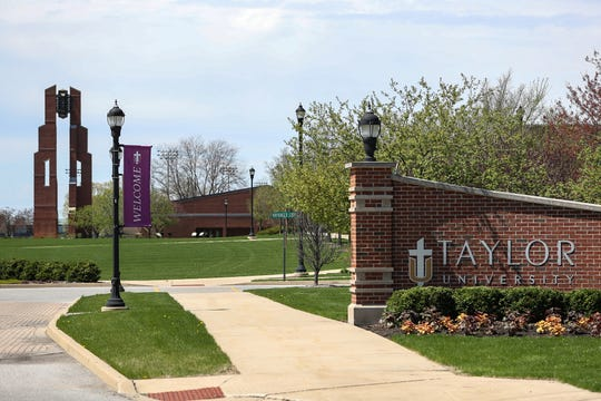 Scenes from Taylor University in Upland, Ind., seen on Monday, April 22, 2019.