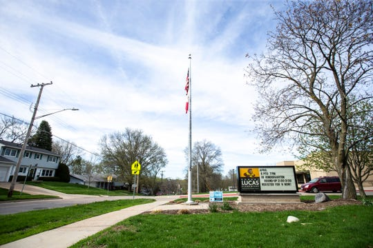 Robert Lucas Elementary is pictured, Tuesday, April 23, 2019, at 830 Southlawn Drive in Iowa City, Iowa.