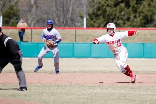 Sean Roginski became the second Wabash player to accumulate 200 career hits.