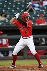 Cincinnati Reds prospect Nick Senzel in action during a game between the Louisville Bats and the Durham Bulls, Tuesday, April 23, 2019.