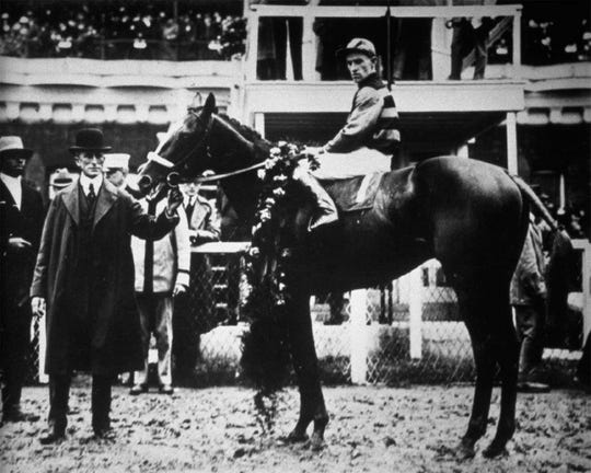 Sir Barton is the first Triple Crown winner, claiming all three wins in 1919.