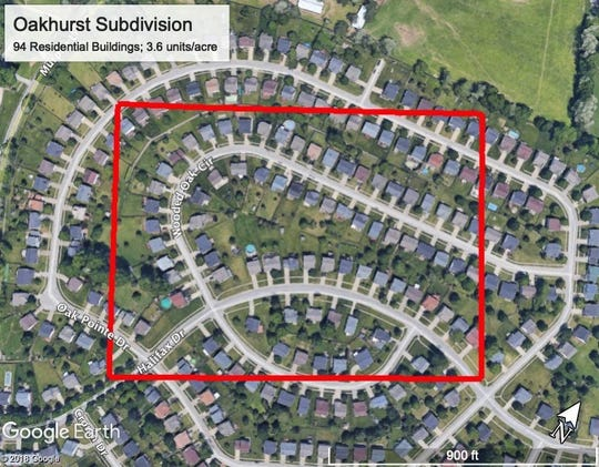 Oakhurst subdivision in eastern Louisville