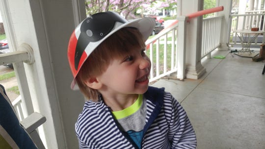 Three year old Jacob, the son of Courier Journal writer Kristina Goetz, is already a Kentucky Derby fan.
