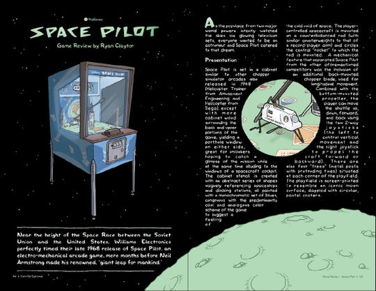 """A review of the game Space Pilot included in Ryan Claytor's latest comic book, """"Coin-Op Carnival"""""""