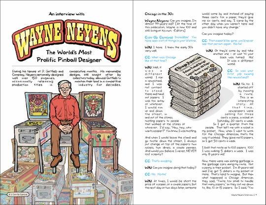 """An interview with Wayne Neyens, a prolific designer of pinball machines, from Ryan Claytor's latest book, """"Coin-Op Carnival"""""""
