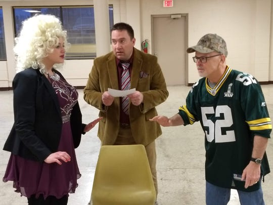 Heart-A-Rama 2019's Family Feud: Country All-Stars Edition skit, from left: Ellan Schmieder, Joe Wiesner and Greg Rysticken.