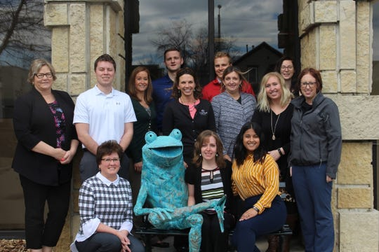Bank First is inviting the community to stop at its corporate headquarters, 402 N. Eighth St., Manitowoc, to have their photo taken with Cash the Frog and tag Bank First on Facebook.