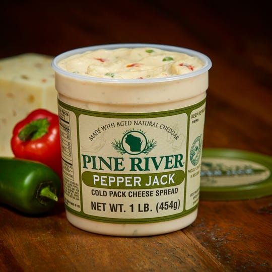 Pine River's Pepper Jack Cold Pack Cheese Spread