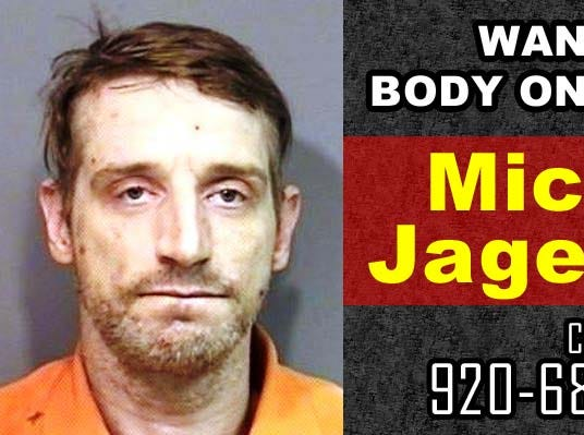 Michael Jagemann, wanted on a body only warrant by Manitowoc Police Department.