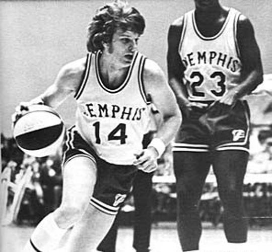 Johnny Neumann is seen here playing with the Memphis Pros of the ABA in the early 1970s