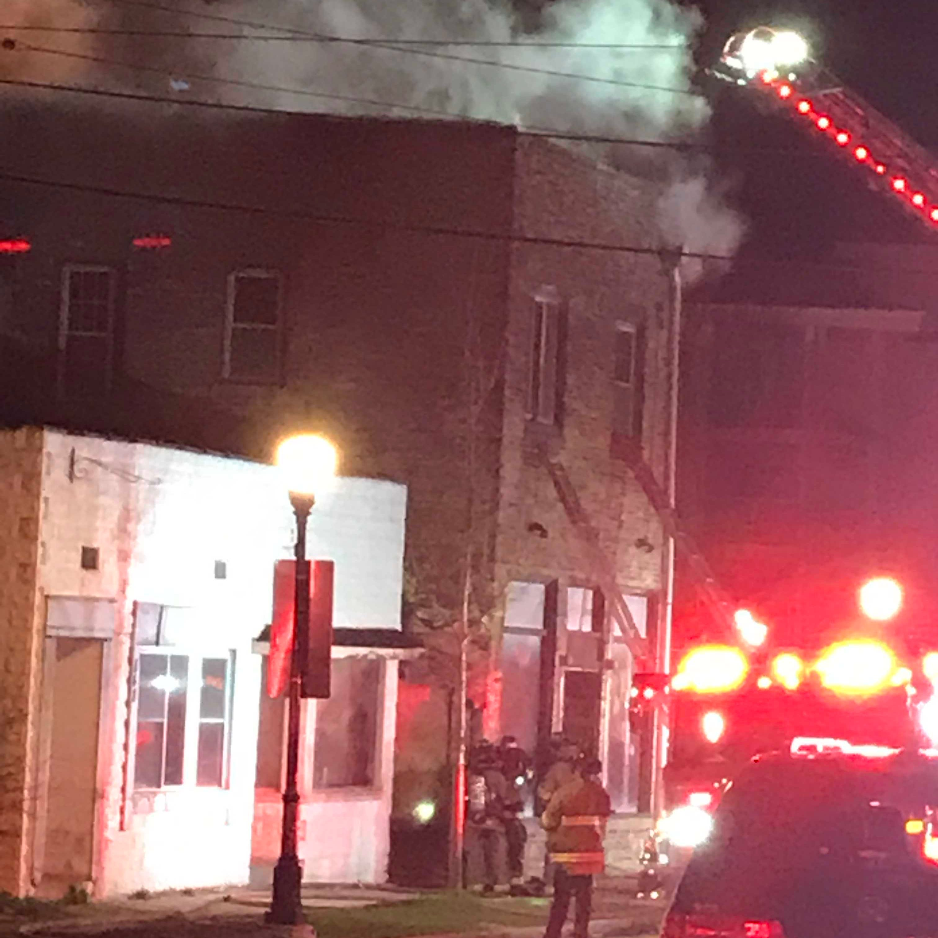 No injuries reported after a fire breaks out in a vacant building in downtown Waukesha