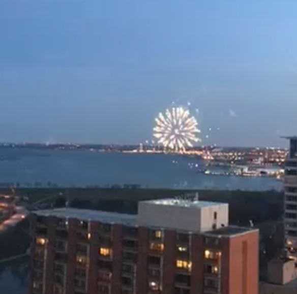 Those fireworks that went off at Milwaukee's lakefront last night were for a marriage proposal