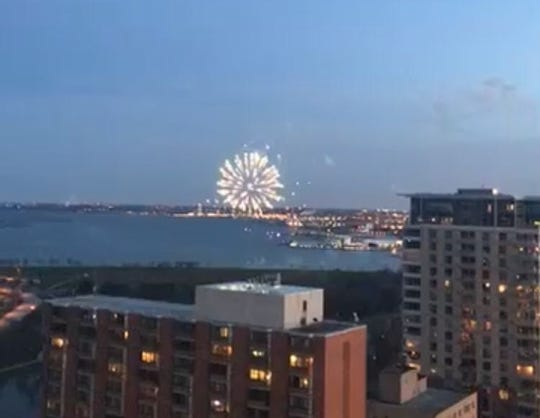 Milwaukee fireworks in spring surprised a lot of people. They were for a successful marriage proposal.