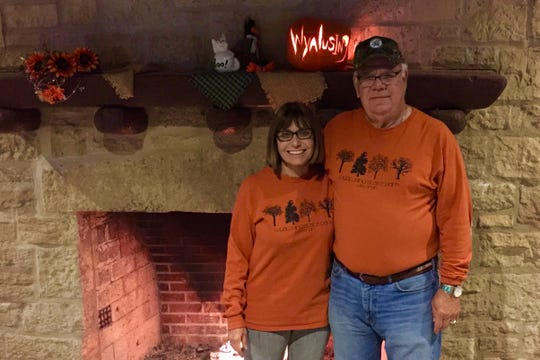 Kathy Lenz and Bob Heft have worked as campground hosts at Wyalusing State Park since 2016.