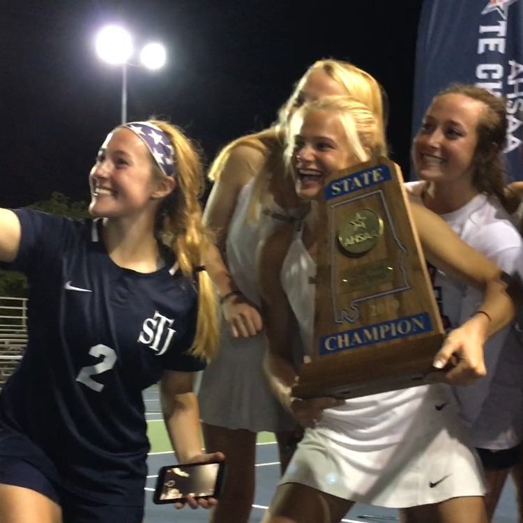 Queens of the court: St. James all smiles over state title