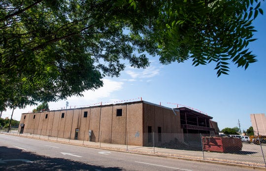 The building in the 400 block of North Perry Street that is being renovated by the Equal Justice Initiative in Montgomery, Ala., on Wednesday April 24, 2019.