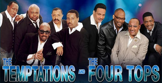 Tickets go on sale Friday, April 26, for The Temptations and The Four Tops at the Montgomery Performing Arts Centre on June 23, 2019.