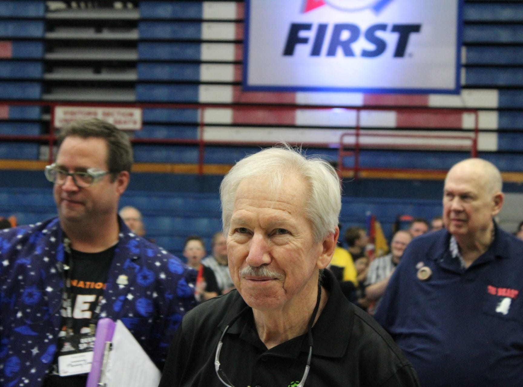 Mike Koch, who has been involved with PhyXTGears for 14 years, received the coveted District Championship Woodie Flowers award at state this year. Koch is now a finalist for the World Championship Woodie Flowers Award in Detroit.