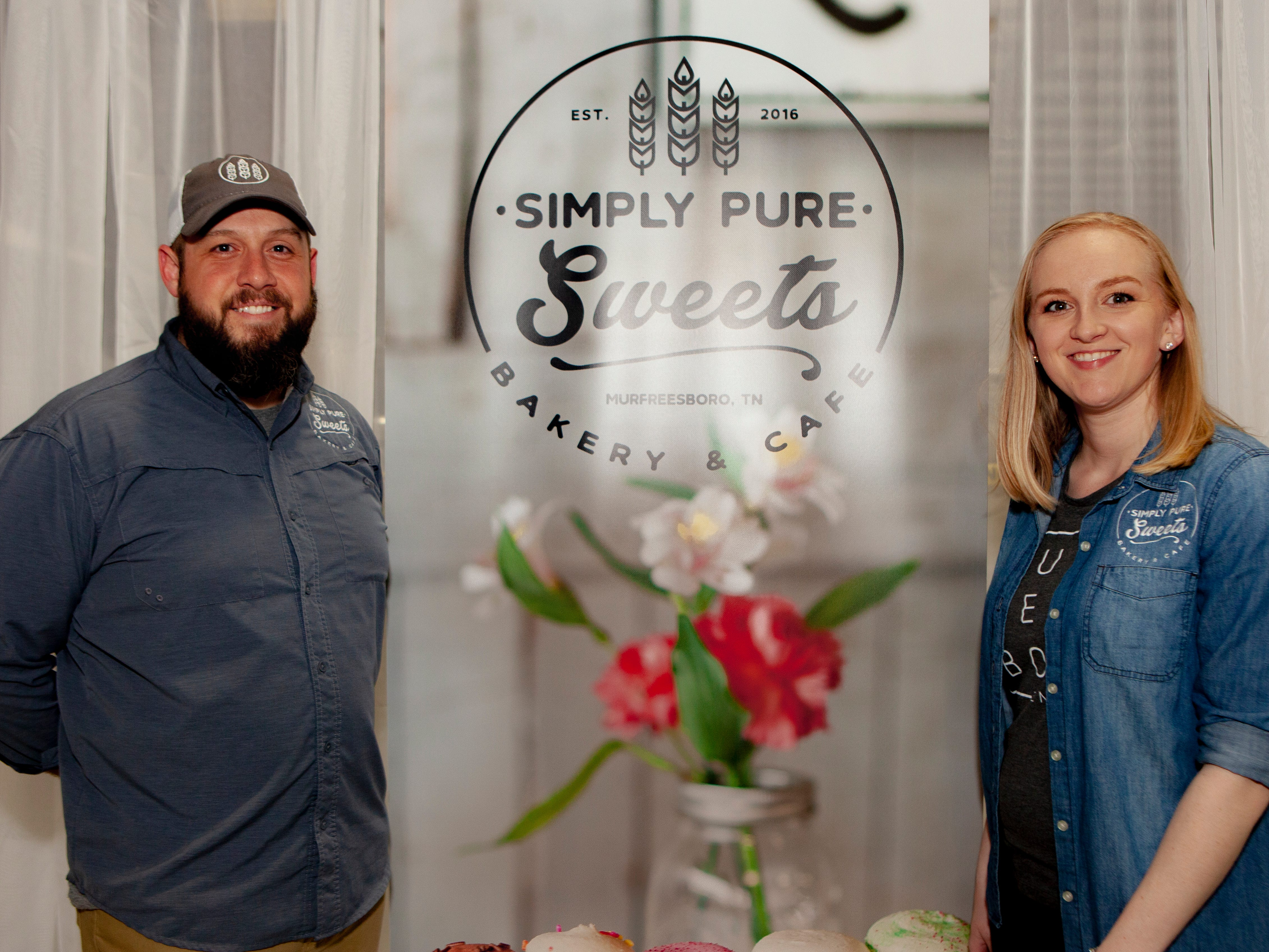 Matthew Joseph andChantell Kennedy Shehan at the Light Up Local Firefly Awards, hosted by Locally Owned Murfreesboro and Smyrna Independent Merchants Association. Awards were presented Tuesday, April 23, 2019 at Hollingshead Aviation at Smyrna Airport.