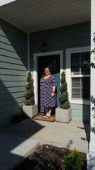 Tabatha Smith enjoys her upstairs porch and living near Old Hickory Lake.