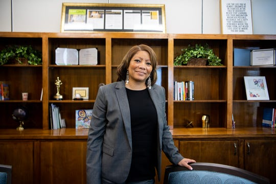 Adrienne Battle, the Metro Nashville Public Schools interim superintendent, is also a mother, a former college track athlete and a graduate of Overton High School.