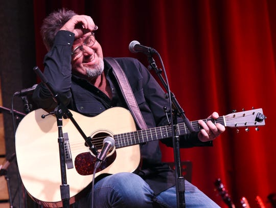 "Vince Gill performs during ""We All Come Together"" for John Berry and Music Health Alliance Tuesday night at City Winery."