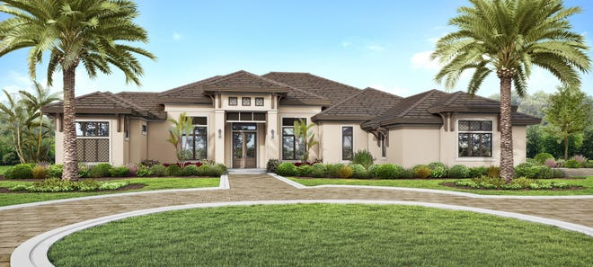 Priced at $3,195,000 – to include furnishings and House Membership in Quail West Country Club – this home is located on an over-sized lot of 0.71 acres.
