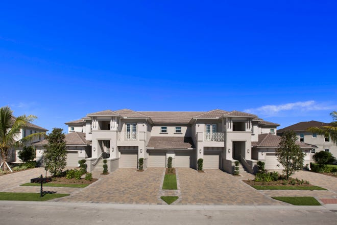 The coach homes of Signature Club at Lely Resort.