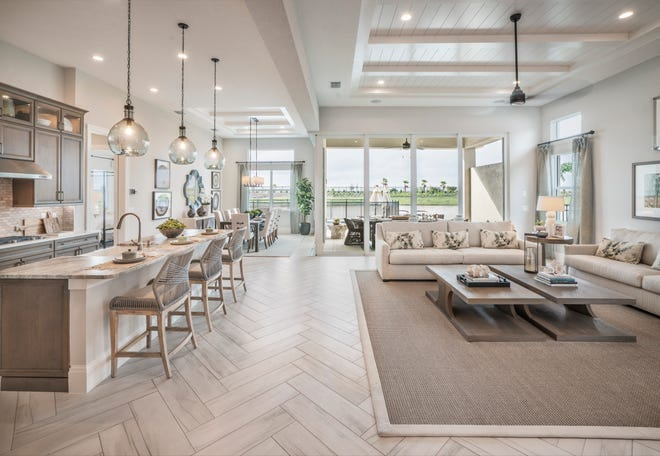 The Heritage Collection  includes single-family home designs ranging from 2,285 to 3,190 square feet, including the  Avery plan.