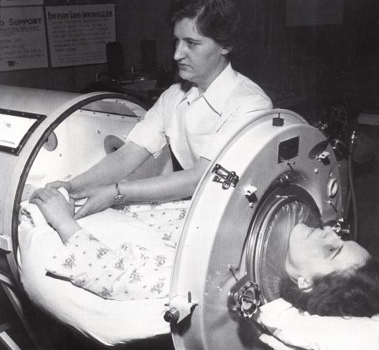 100 Years of American Nursing - Treating a polio victim