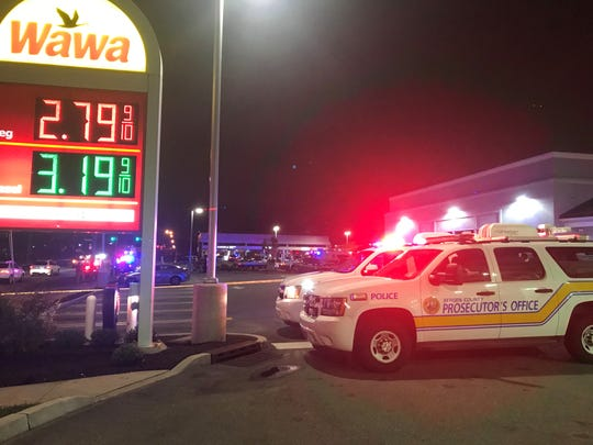 The Bergen County Prosecutor's Office and Lodi police respond to a motorcycle crash near Wawa April 23, 2019.