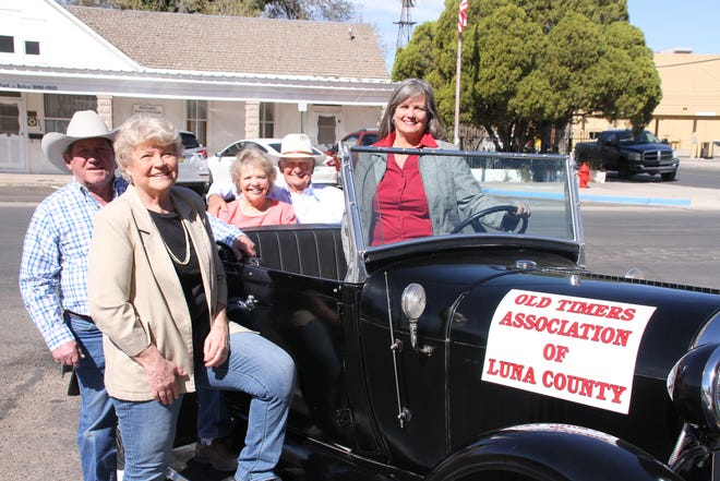 Officers; past, present and future, invite members and their families to the 107th annual Old-Timers Association of Luna County Reunion on Saturday, Oct. 16, in Deming. Pictured from left are 2019 co-presidents Bobby and Linda Smrkovsky, incoming2020 co-presidents Brenda and LeRoy Zachek and president for the 107th edition Sally Hossley Bales and her husband Gary (not pictured).