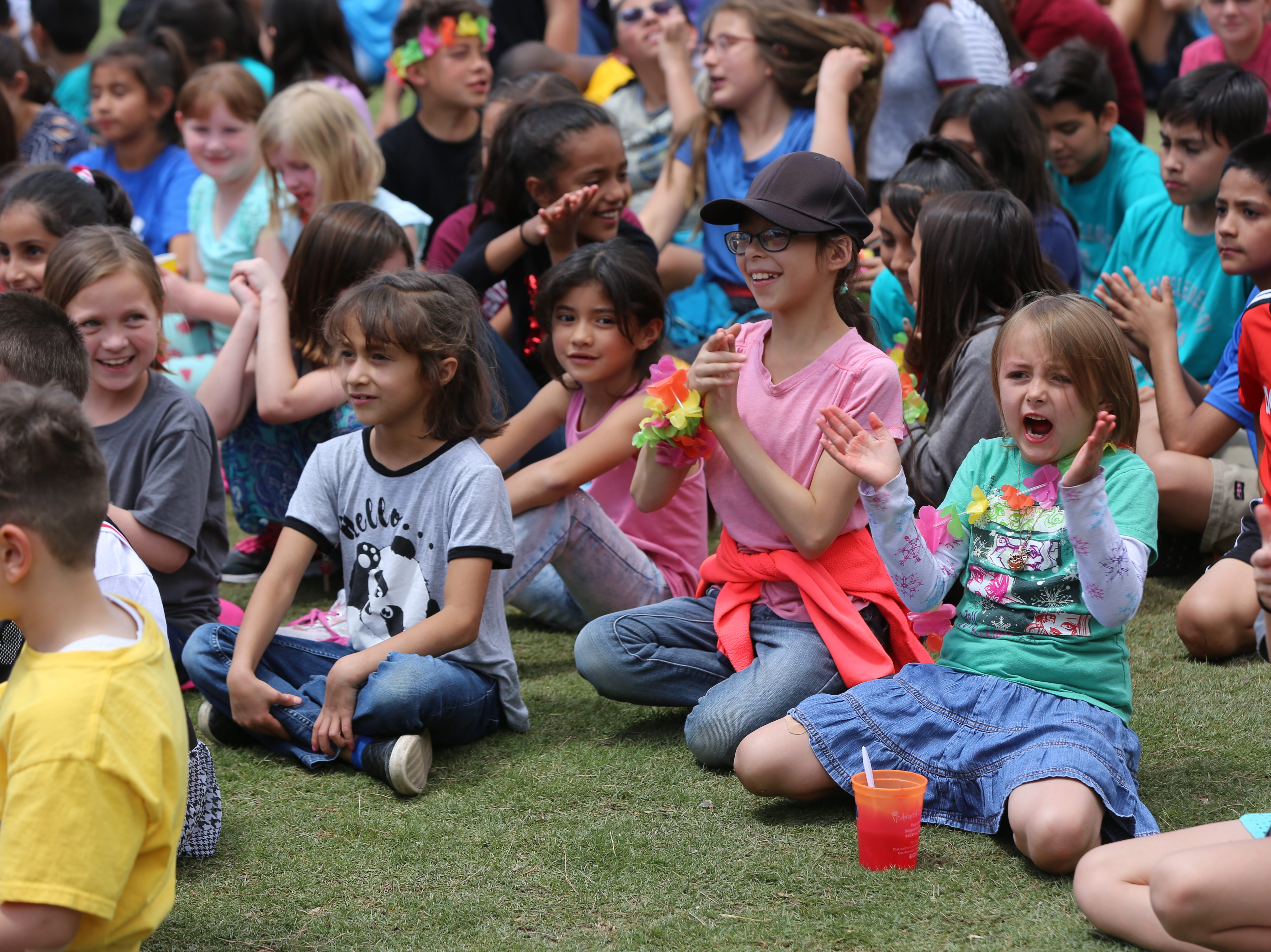 Central Elementary School students cheered and celebrated the school's 70th anniversary Wednesday, April 24.