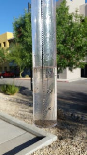 A downpour on the evening of Tuesday, April 24, 2019 drenched Las Cruces with rain and some hail. About one-third of an inch fell at the Las Cruces Sun-News, 256 W. Las Cruces Ave.