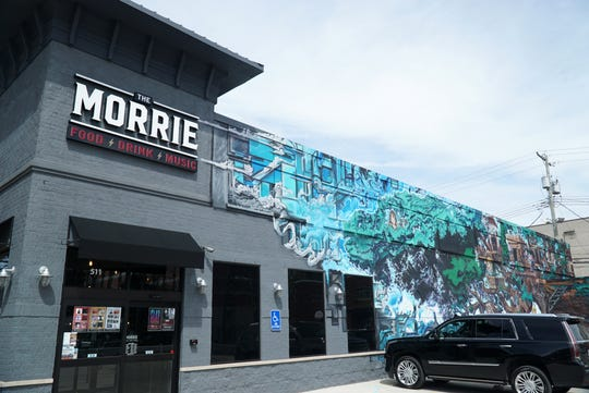 Royal Oak's The Morrie at 511 S. Main Street features a colorful mural on its south exterior wall.