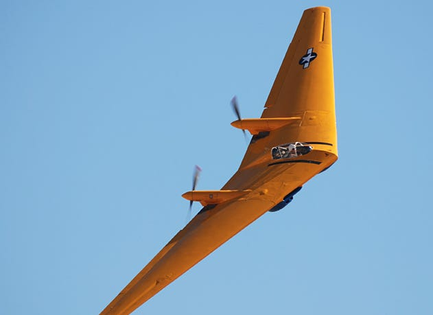 The Northrop N-9M that crashed this week flies at the Apple Valley Airshow in 2012. The flying wing-design plane was a development aircraft built in 1/3 scale for development and testing to use for the XB-35 flying wing bomber concept. The first N-9M flight took place on Dec. 27, 1942. The aircraft were flown for testing until the cancellation of the B-35 program. All but one of the N-9M aircraft were destroyed after the cancellation. This aircraft sat rotting until 1982, when it was acquired by the Planes of Fame Museum at Chino, which restored it to flyable status.