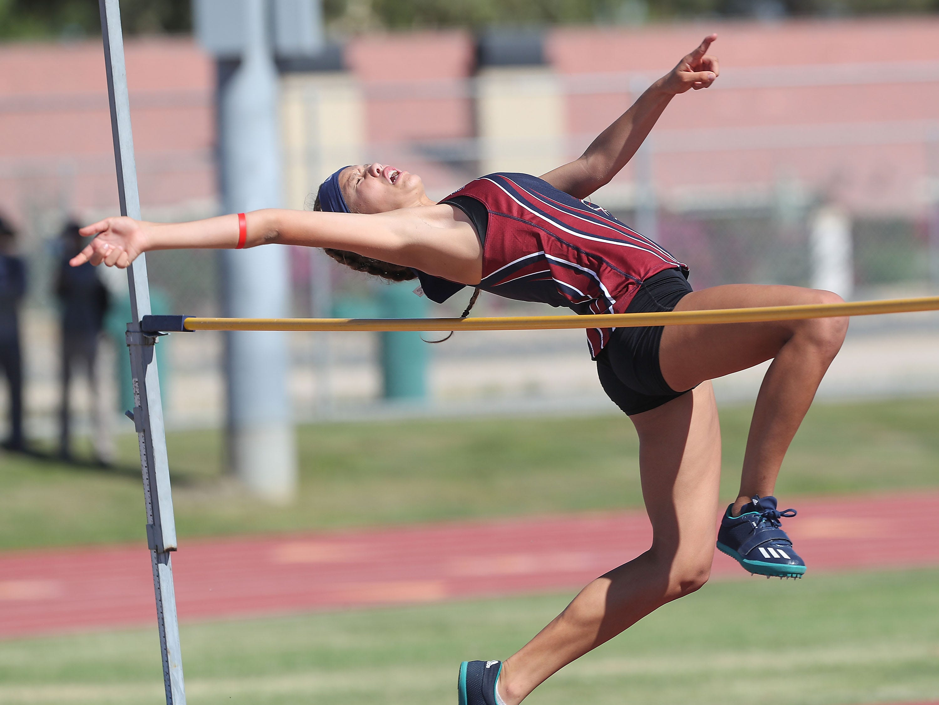 The Desert Empire League track championships at Palm Desert High School, April 23, 2019.