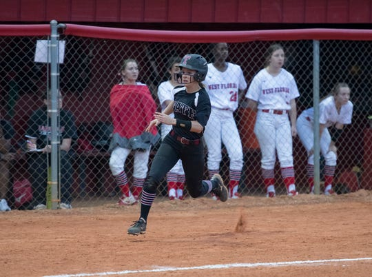 Shelby McLean is one of three seniors Tate softball will rely on for strong leadership in Thursday's District 1-7A championship game.