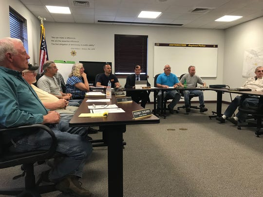 The Southwestern Regional Police Board holds a special meeting on April 23, 2019, to further discuss the department's future with North Codorus Township.
