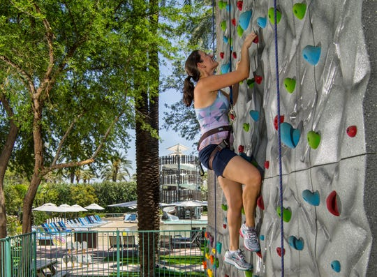 "The resort's Fun Zone includes the ""The Summit"" rock climbing wall and many other exciting activities."