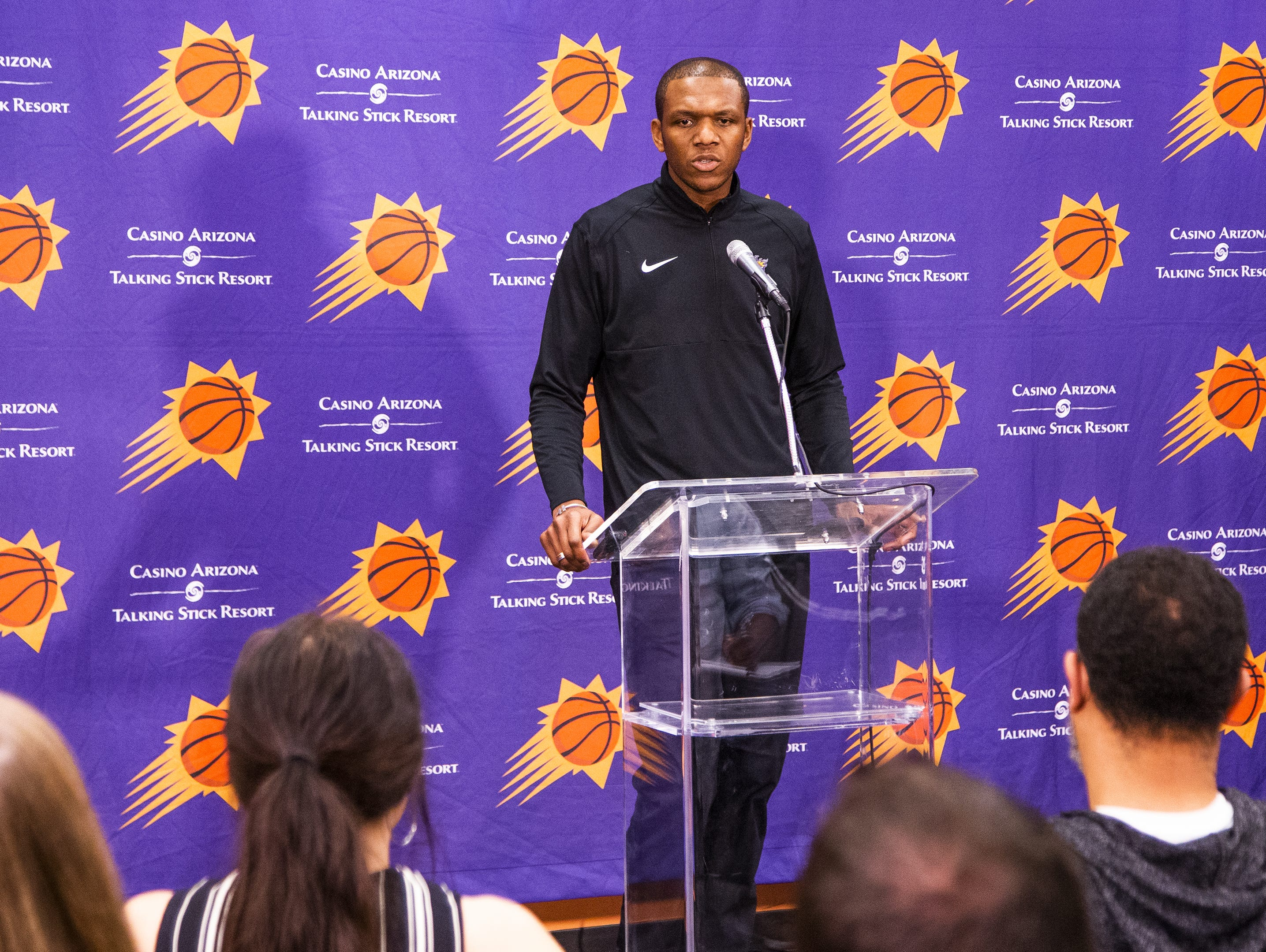 Suns General Manager James Jones answers questions about the search for a new coach.