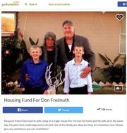 Housing fund for Don Freimuth, Cynthia Freimuth's husband.