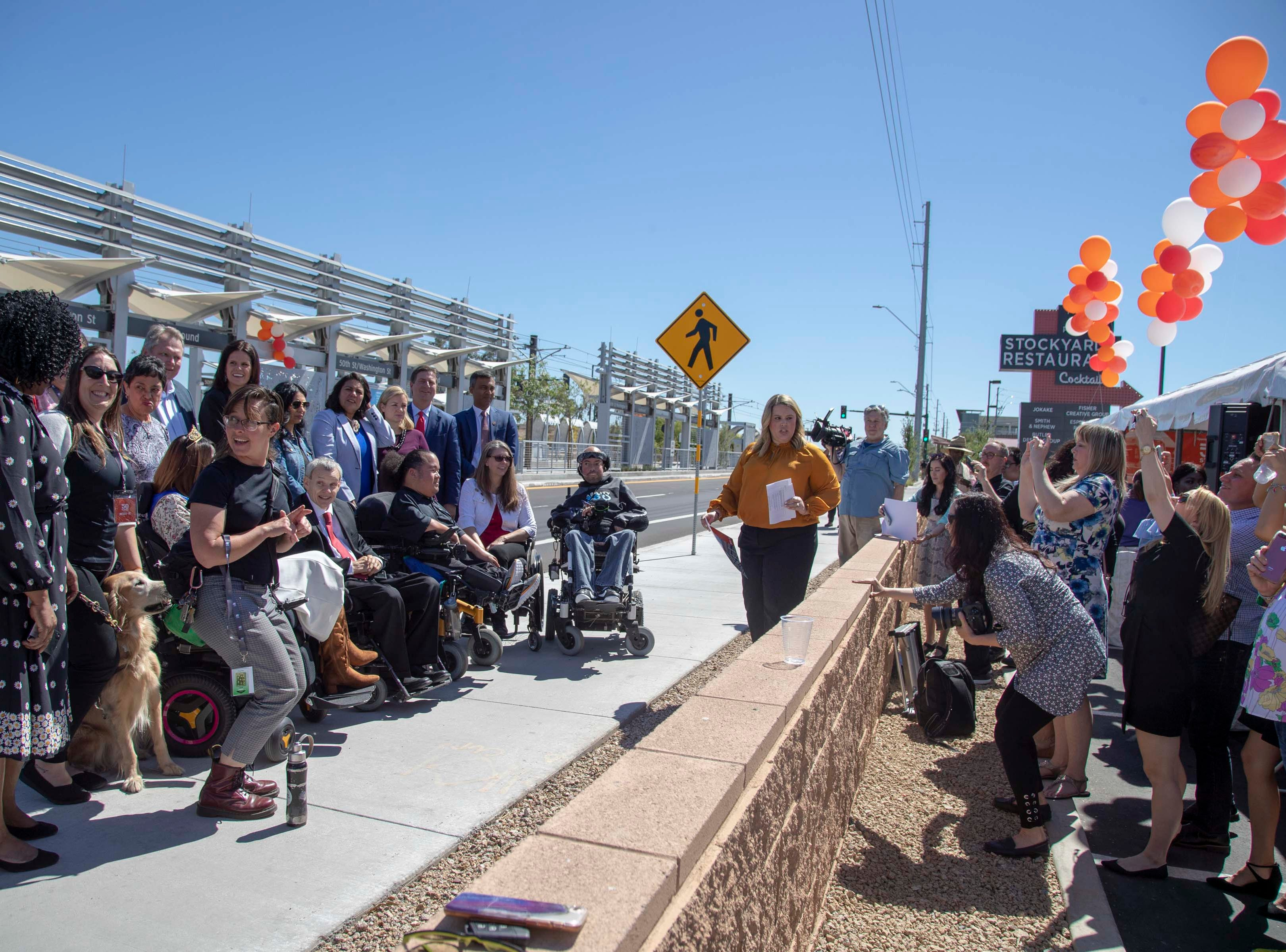 Phoenix and Valley Metro unveil a new light rail station at 50th Street and Washington, which will provide additional access to Ability 360, one of Arizona's largest disability resource centers on April 24, 2019.