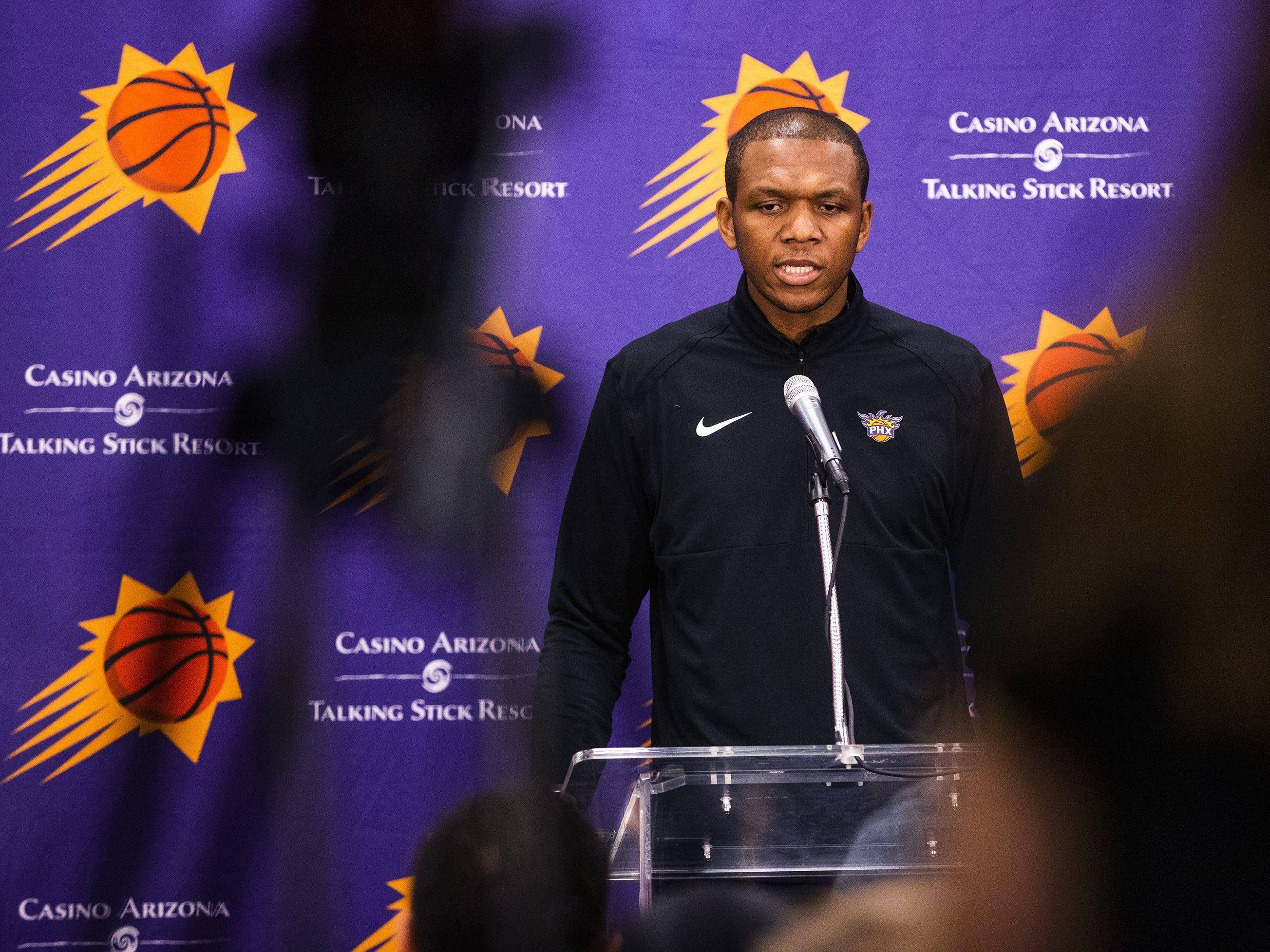 James Jones discusses the decision to fire coach Igor Kokoskov after just one season.